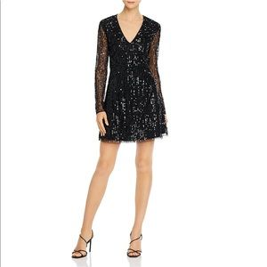 French ConnectionBlack Sequence Dress size XS